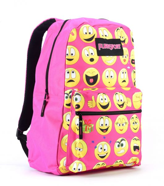 PURESPORT 17 inches Classic Emoji Backpack for Unisex 1baa330123eff