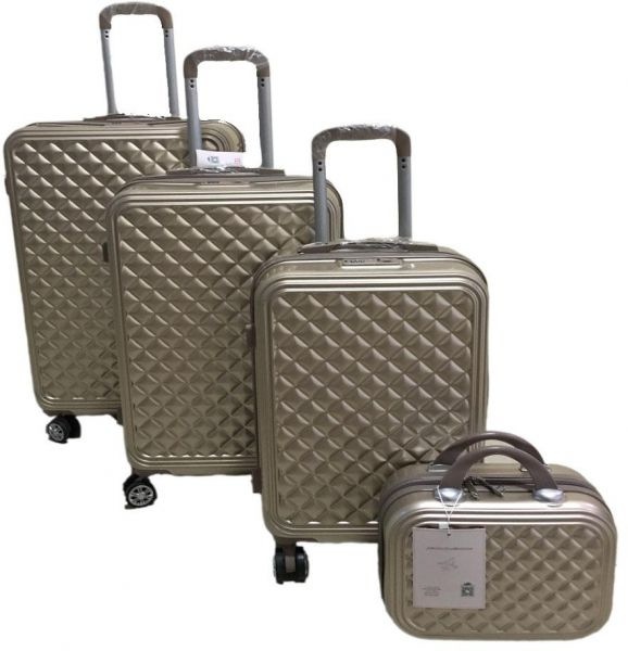 a25a3c6ecfe Love Travel Luggage Trolley bags 3 Pieces Set and 1 Piece Beauty ...