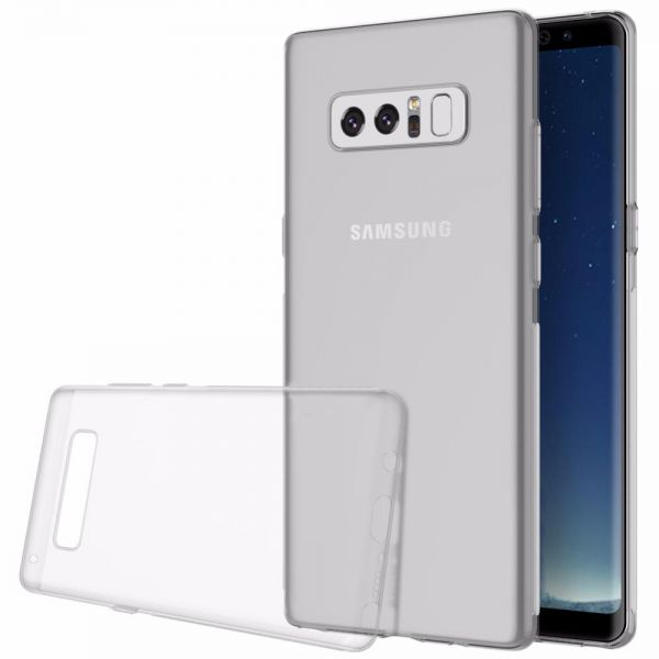Samsung Galaxy Note 8 (2017) Slim Transparent Ultra-Thin TPU Soft Silicone  Protective Case Cover - Clear