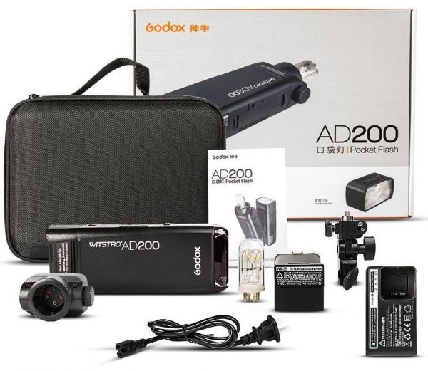 Godox Wistro AD200 TTL HSS 1/8000s Pocket strobe flash Light with 2900mAh Lithium Battery inbuilt 2.4Ghz wireless