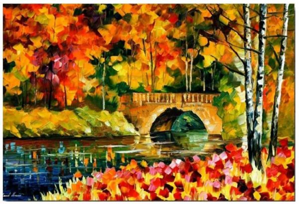 Hand Painted Landscape Canvas Wall Art Oil Painting Without Frame 100x80 Cm Model Fh0011