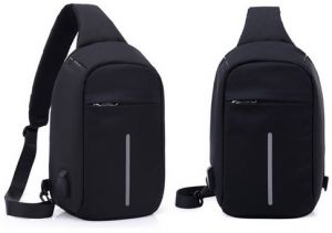 Multifunctional digital storage chest bag anti-theft handbag shoulder bag  man Sports Backpack-black 9acf55be03