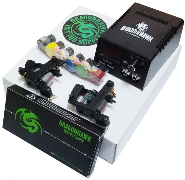 Tattoo Machine Complete Set Shader Liner Full Kit with Needle and ...
