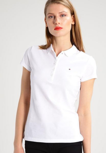 Tommy Hilfiger White Shirt Neck Polo For Women  f228746169