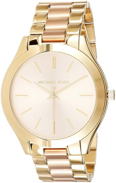 bab84f42864d Michael Kors Slim Runway Watch for Women - Analog Stainless Steel Band -  MK3493