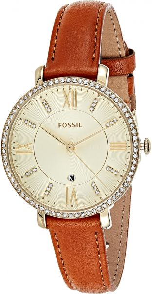 Women's Leather Band White Fossil Jacqueline Watch Dial Es4293 ONnwP8XkZ0