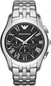4437e935f Emporio Armani Classic Men's Black Dial Stainless Steel Band Watch - AR1786