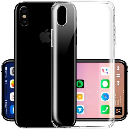 new style d4fa2 379ed Silicone Clear Transparent Fundas Case for Apple iPhone 8 Case iPhone8 Cover