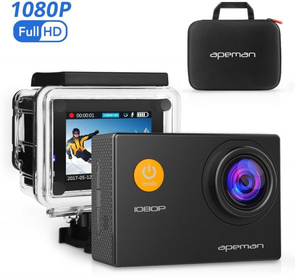 APEMAN Action Camera 12 MP Full HD 1080P Waterproof Underwater Cam with 170 Wide-Angle Lens