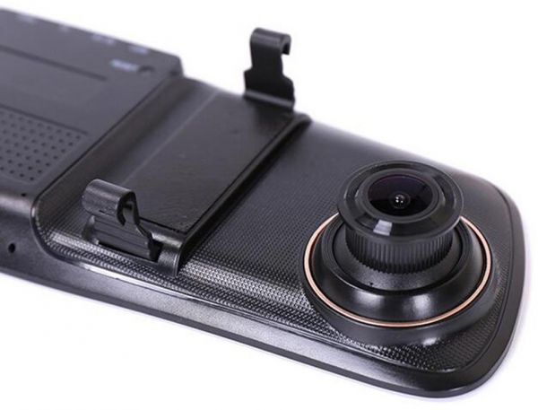 """Driving Recorder Double Lens 5 """"Rearview Mirror Recorder High Definition Night Vision 1080P Jie Li HD Solution"""