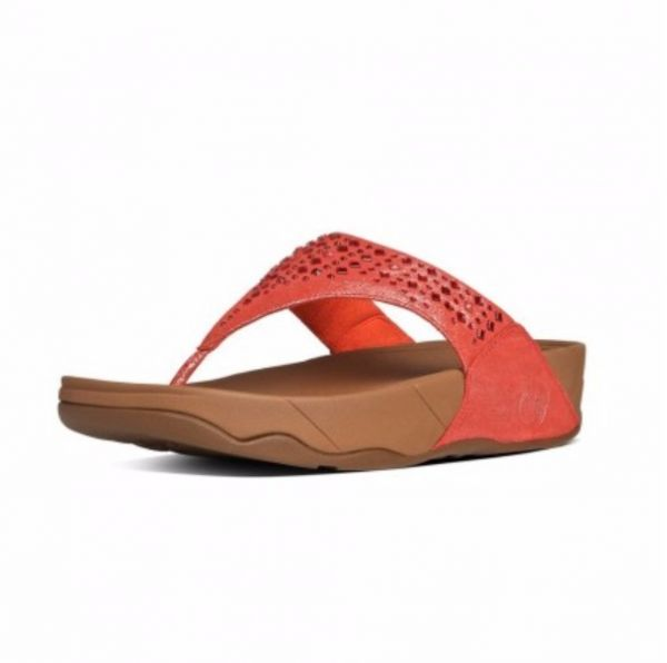 FitFlop Red Thong Slipper For Women