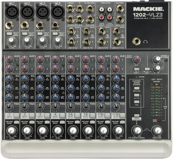Mackie 12 Channel Compact Mixer - 1202-VLZ3