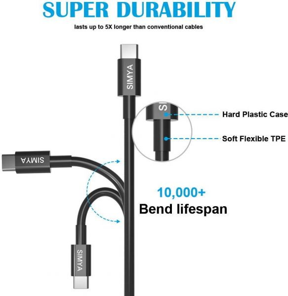 USB-C Cable, Type-C to USB 3 0 Charging Cable Braided Nylon