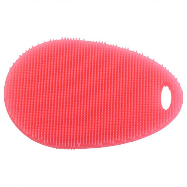 Soft Silicone Dishes Washing Cleaning Brush Kitchen Home Scrubber Wash Tool(Red) | السعودية | سوق