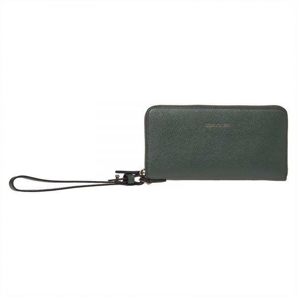 1a4fc953c9 Cerruti 1881 Green Faux Leather For Women - Zip Around Wallets Price ...