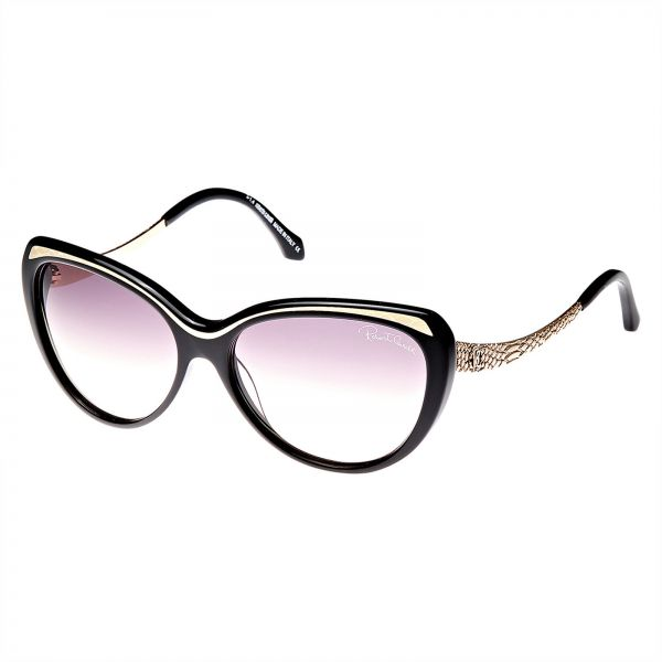 25d75676e009 Roberto Cavalli Cat's Eye Women's Sunglasses - RC898S 01B -59 -15 -135mm