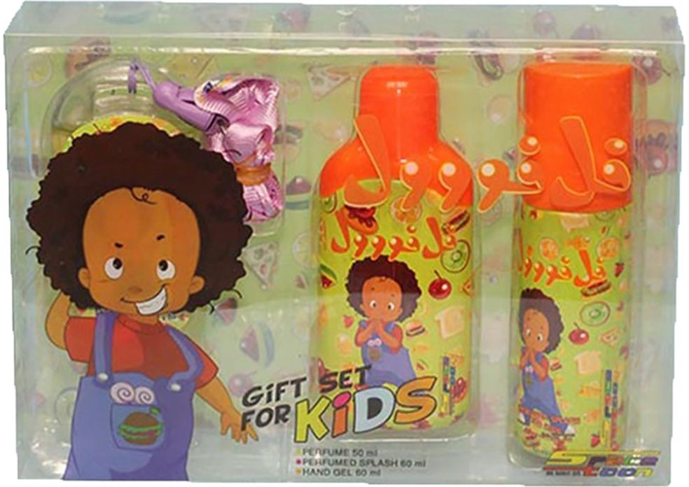 Felfol Perfume with Splash and Handgel by Space Toon for Boys - Assorted Fragrances, 170 ml, 3 Piece