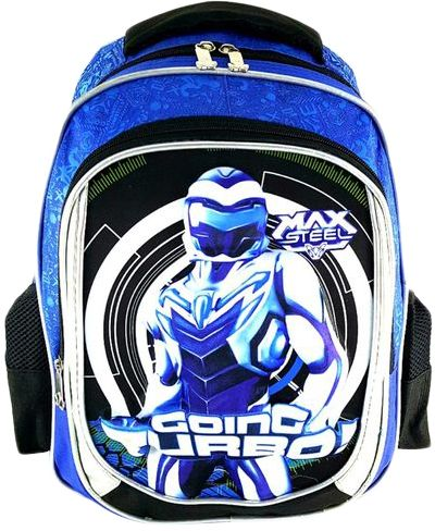 166769f3a2e9 Gifts and More 3D Max Steel 16 inch Backpack For Boys - Blue