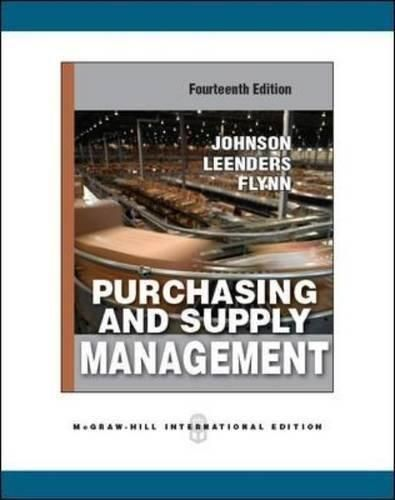 Purchasing and Supply Management: International Edition ,Ed. :14