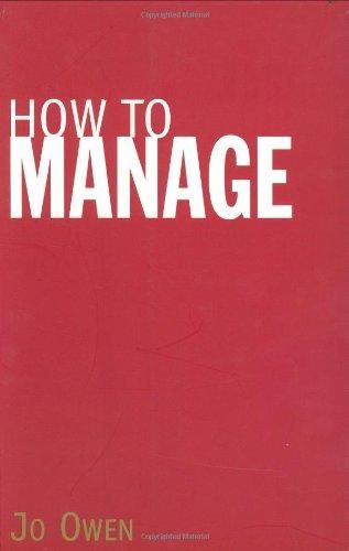 How to Manage ,Ed. :1