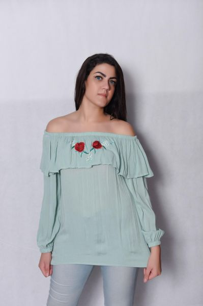 b6f7a33a124 Coctail Pastel Green Off Shoulder Blouse For Girls Price in Egypt ...