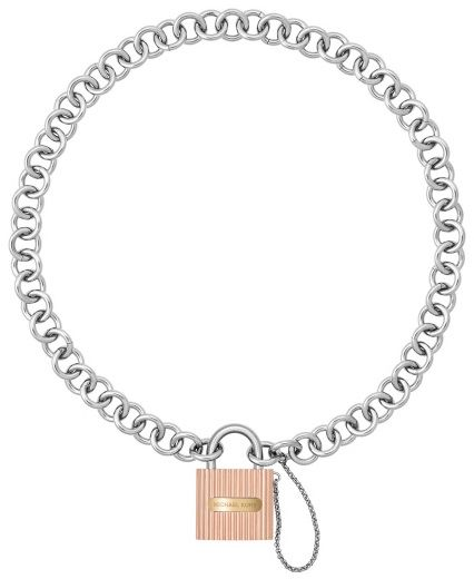 Michael Kors Women Silver Plated Stainless Steel Chain Bracelet