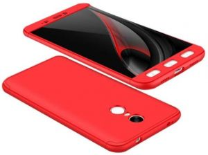 Xiaomi Redmi Note 4 Gkk 360 Full Protection Cover Case - Red