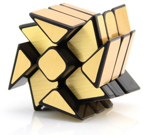 Windmirror Cube Gold Mirror Windmill Wheel Mirror Blocks Speed Cube Shape Mod Puzzle Toy Ww2941 Souq Uae