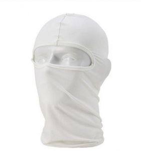 WHITE Motorcycle Cycling Ski Neck Protecting Outdoor Lycra Full Face Mask