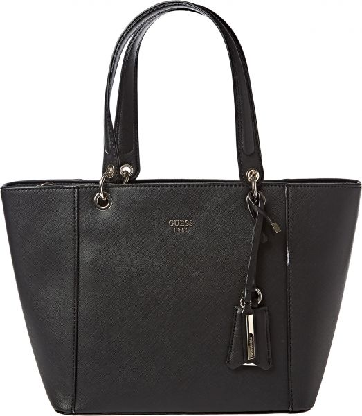 f667b44d6 Guess Kamryn Tote Bag for Women - Black: Amazon.ae