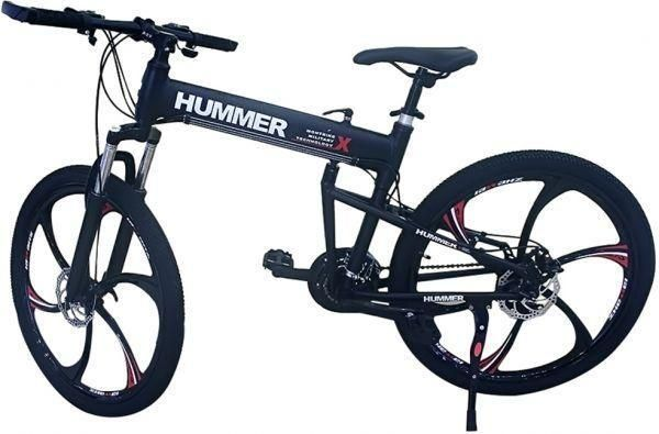 Hummer Mountain Bikes 26 inch 24 Speeds Suspension Folding Bicycles ...