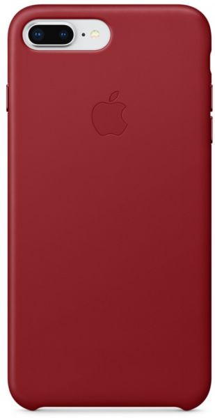 pretty nice 03d37 2fc93 Apple iPhone 8 Plus / 7 Plus Leather Case - Red, MQHN2ZM/A