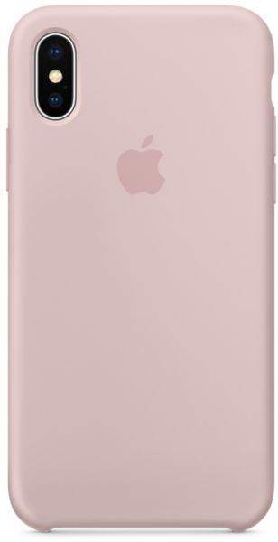 Apple iPhone X Silicone Case - Pink Sand, MQT62ZM/A