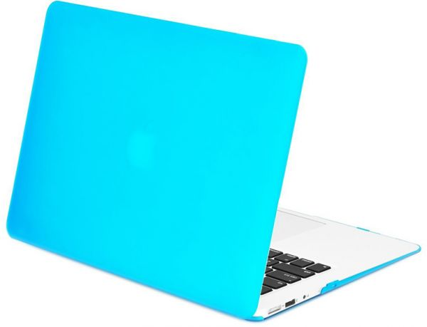 outlet store d78dc 3c78a Ozone Rubberized Matte Hard Case Cover For Apple Macbook Air 13 Inch A1466  / A1369 - Light Blue