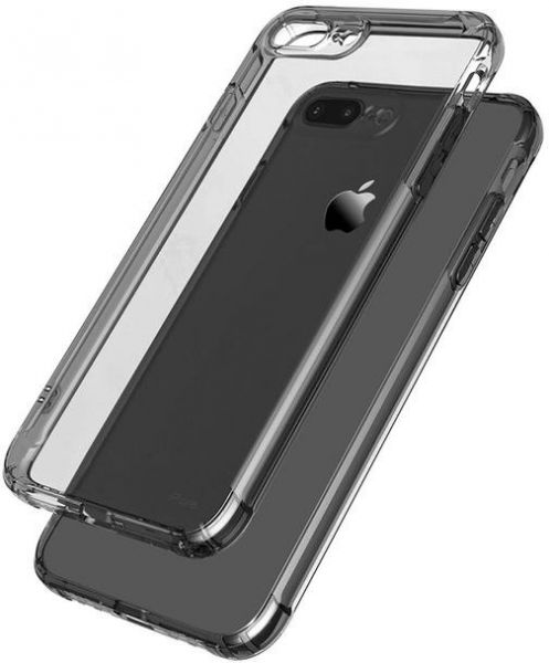DOWIN Silicone Transparent TPU Armor Drop Case For Iphone 8 PLUS Ultra Thin Soft Cover Crystal Clear Silicon Phone Cases- BLACK | Souq - UAE