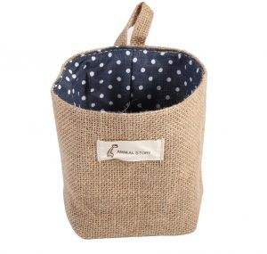 New Cotton Linen Hamper Hanging Bag Home Gadget Storage Organizer Foldable Basket