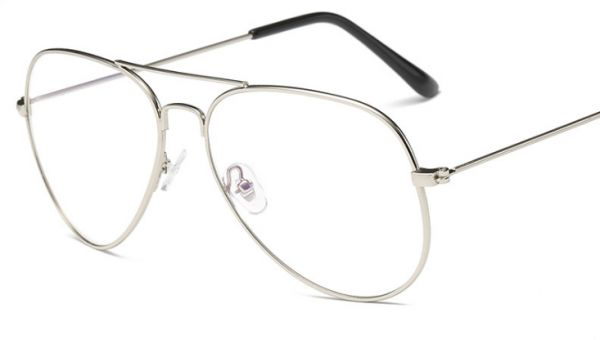 a96f1284ebc silver Fashion alloy Round Eyeglasses Frame Spectacles Glasses ...