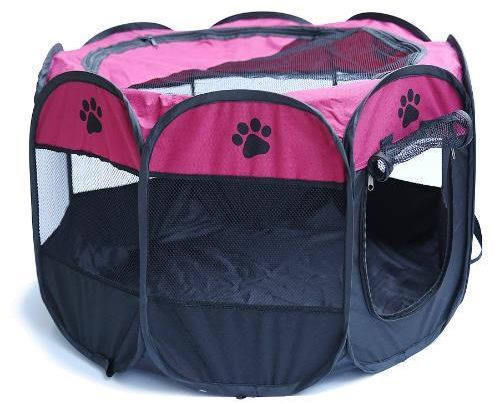 Dog Beds Folding Portbale Pet House Cage Dog Cat Tent Playpen Puppy Kennel Easy Operation Octagonal Fence Outdoor Supplies Dog Doors, Houses & Furniture
