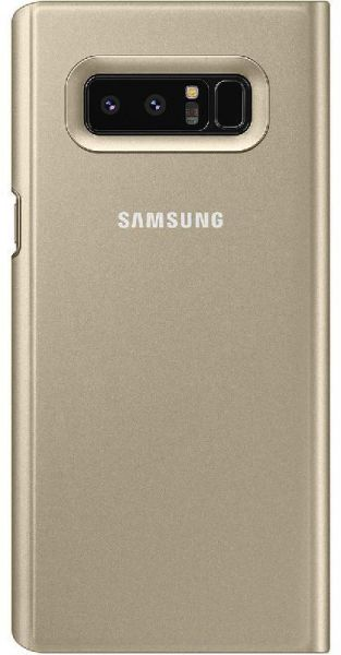 new arrival 301ff 0578a Samsung Clear View, Flip Cover Mobile Case, for (Samsung) Galaxy Note 8,  Gold