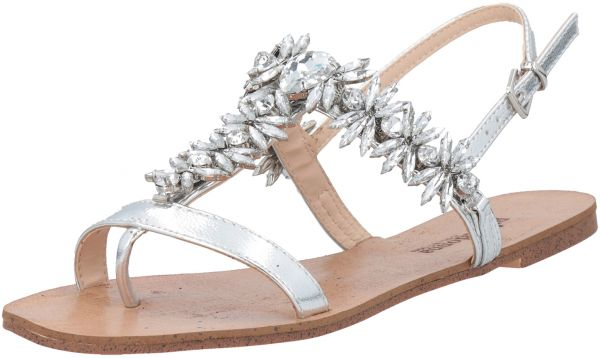 9646ec09b73 Primadonna Collection Silver Flat Sandal For Women