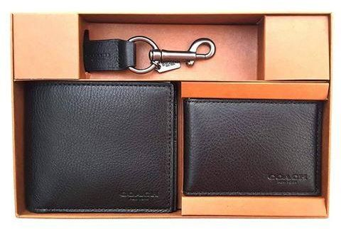 93a87416c0dc COACH COMPACT ID WALLET IN SPORT CALF LEATHER BLACK - F64118 Price ...