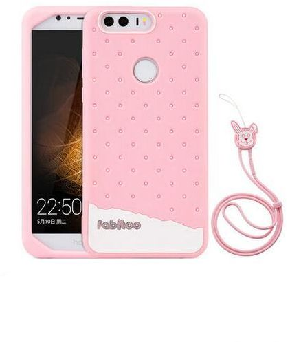 Huawei Honor 8 silicone case women lovely slim Silica gel back cover anti  fall shockproof Lanyard phone shell protective sleeve  698fa9d8d