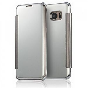 Smart Clear Mirror Case Cover Compatible with Samsung Galaxy A7 (2016) A710F, Silver