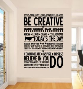 office wall stickers. Quotes For Office, Wall Decals Living Room, Home Decor, Waterproof Stickers Office L