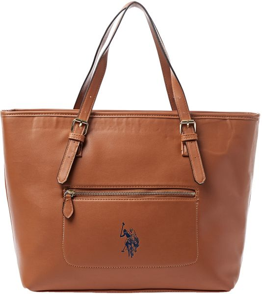 U.S. Polo Assn. Tote Bag for Women - Brown   Bags   Wallets ... 1f1013a6e4