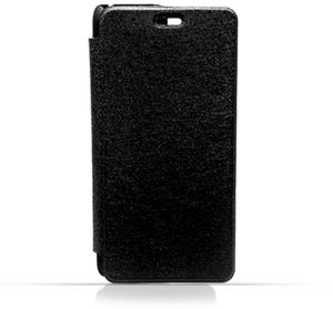 Huawei Y5 II Black Frosted PU Leather Flip Cover