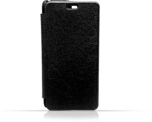 LG G4 Stylus Black Frosted PU Leather Flip Cover