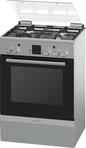 bosch 60 x 60 cm 4 gas burners gas cooker stainless steel hga24w255m