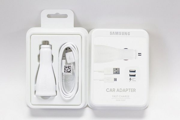 Samsung Car Charger Dual Port Adaptive Fast With Usb Cable White Retail Pack Souq Uae