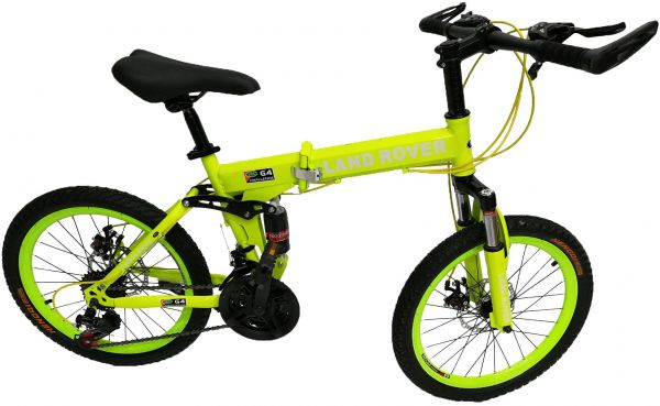 Land Rover Mountain Bikes 20 inch 21 Speeds Suspension Folding ...